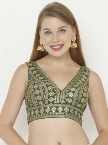 Embroidered Blouse - New Trending Blouse Designs