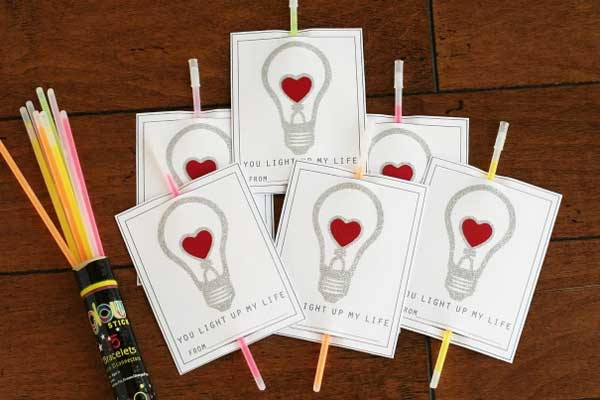 Glow On - Handmade Valentine Day Card Ideas for Friends