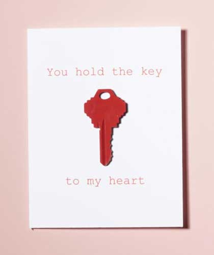 Hold The Key To My Heart - Handmade Valentine Day Card Ideas for boyfriend
