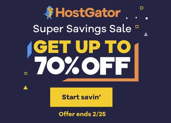 Hostgator Super Savings Sale
