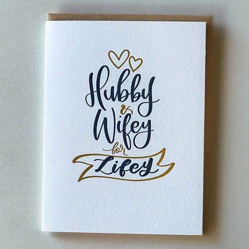 Hubby And Wifey Card - Handmade Valentine Day Card Ideas for husband