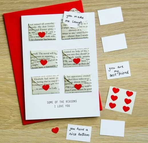 Mini Envelope Love Cards - Handmade Valentine Day Card Ideas for boyfriend
