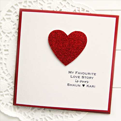 My Love Story Card - Handmade Valentine Day Card Ideas for boyfriend