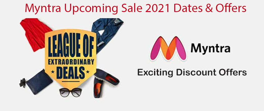 Myntra Upcoming Sale 2021 Dates & Offers