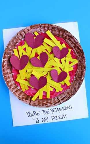 Pizza Valentines Card -Handmade Valentine Day Card Ideas for Friends