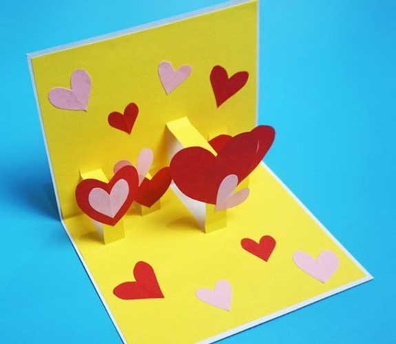 Pop-Up Cards -Handmade Valentine Day Card Ideas for Friends