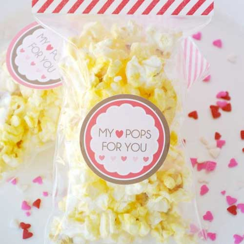 Popcorn Valentine's Day Card - Handmade Valentine Day Card Ideas for Teachers
