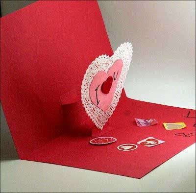 Valentine Pop Up Card - Handmade Valentine Day Card Ideas for boyfriend