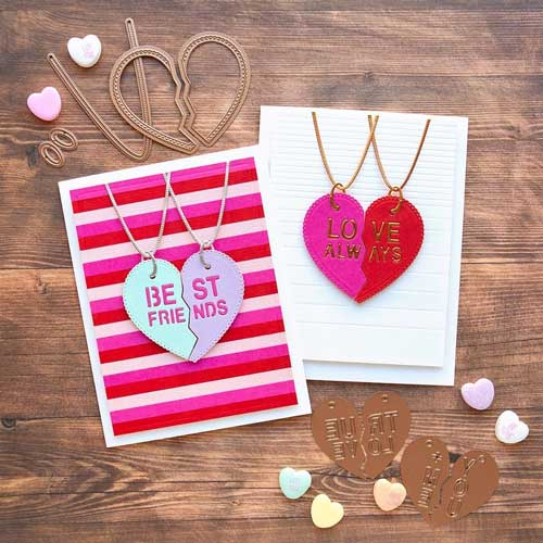 Valentine's Day Necklace Cards - Handmade Valentine Day Card Ideas for Teachers
