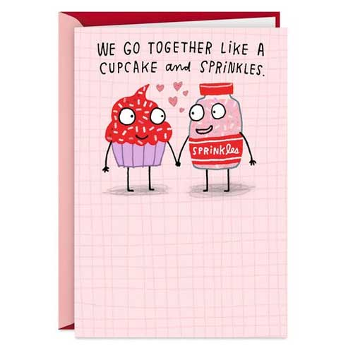 We are like Cupcake - Handmade Valentine Day Card Ideas for husband