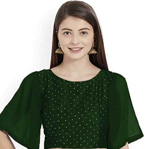 Wide Sleeved Blouse - New Trending Blouse Designs