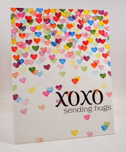 XOXO Valentine Card - Handmade Valentine Day Card Ideas for boyfriend