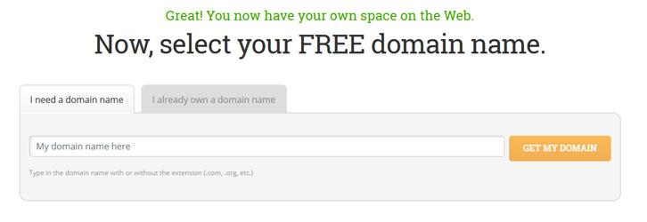 hostpapa free domain