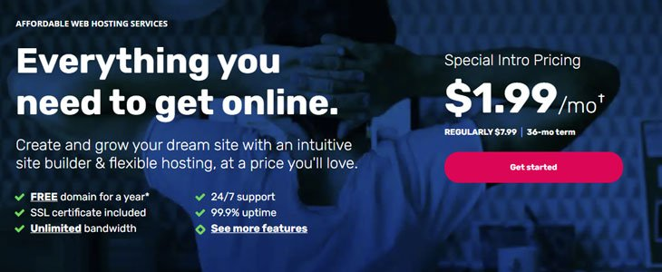 ipage web hosting services at 1.99