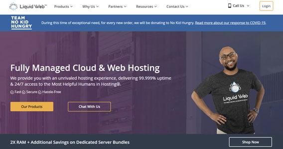 liquid web fully managed cloud & web hosting