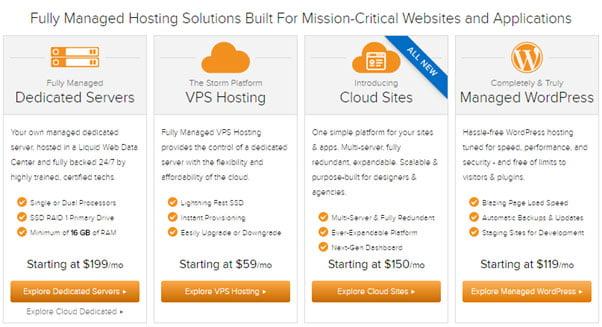 liquid web hosting plans