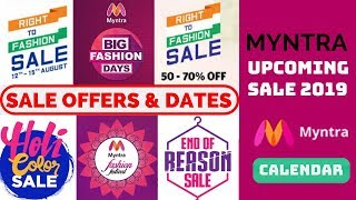 Myntra sale offers and dates 2021