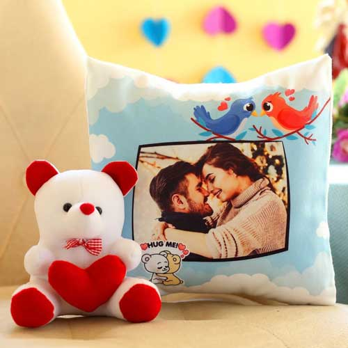 photo cushion for valentine day