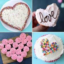 Valentine hearts cup cake