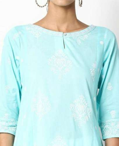 Boat Neck Kurti front