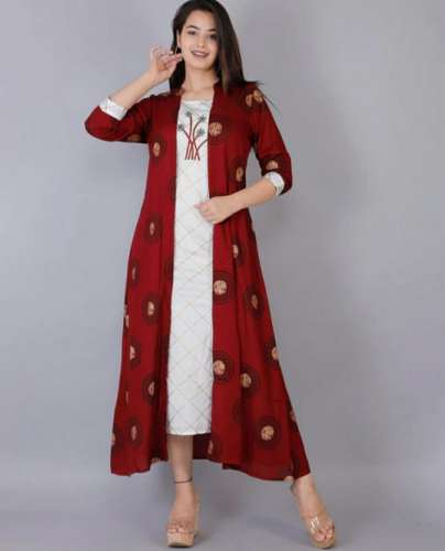 Collared and Layered Kurti front