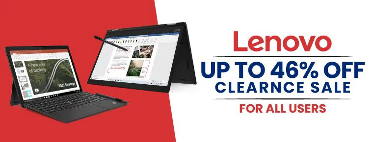 Lenovo clearance sale banner