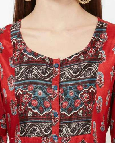 Scooped Neck Kurti front