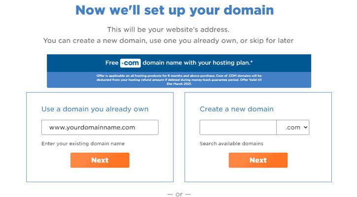 hostgator select preferred domain name