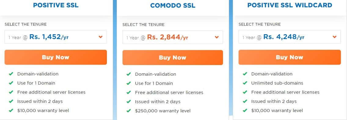 hostgator ssl certificate plans