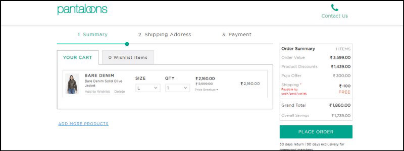how to avail Pantaloons coupons and promo code
