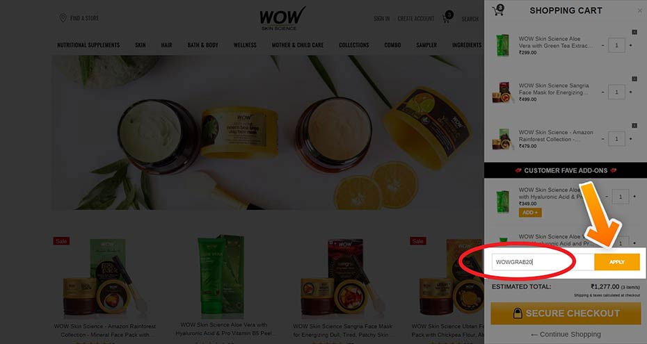 how to use buywow coupon code