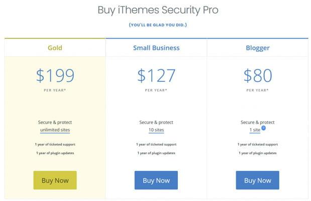 itheme security pro plans