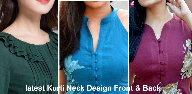 latest Kurti Neck Design Front & Back