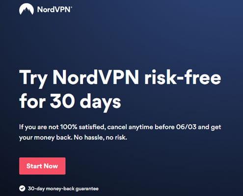 nordvpn 30 days free trial