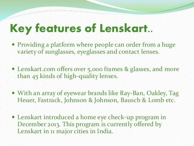 why choose lenskart