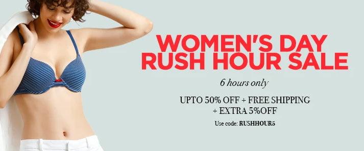 Women's Day Rush Hour Sale