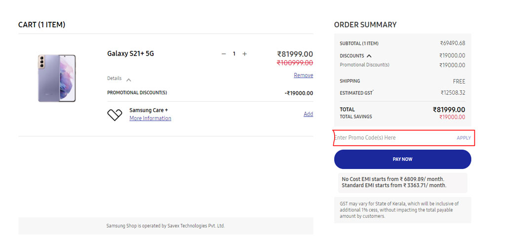 How to use Samsung Discount Coupons and Deals
