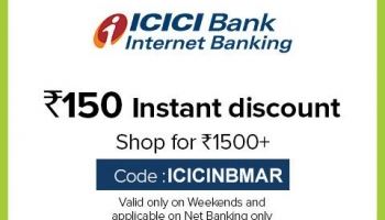 BigBasket ICICI Offer Code, [150 OFF] with Net Banking in Weekends
