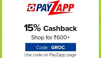 Bigbasket PayZapp Offer May 2020, [15% CASHBACK] on Rs.600