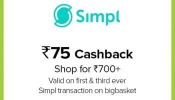 Bigbasket Simpl Offer 2020, [75 CASHBACK] on New User Transaction