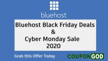Bluehost Black Friday Deals & Cyber Monday Sale 2020
