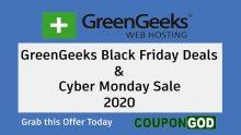 GreenGeeks Black Friday Deals 2020 & Cyber Monday Sale -Web Hosting Offer at $2.49/m