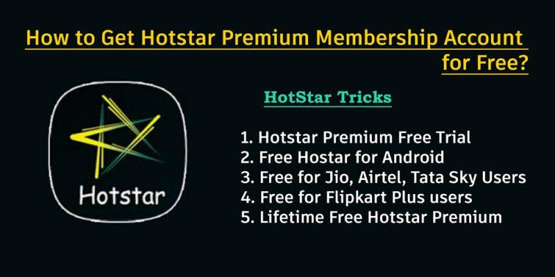 How to Get Hotstar Premium Membership Account Free