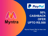 Myntra Paypal Offer [500 CASHBACK Voucher] Code For New User 2021
