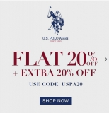 NNNOW USPA Offer, Extra [20% OFF] with US Polo Shirts Coupon Code