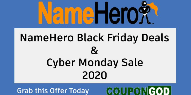NameHero Black Friday Deals & Cyber Monday Sale 2020 – 80% Discounts