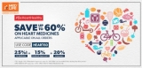 Get up to 60% off on Heart Medicines by MedLife